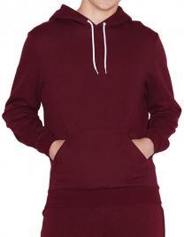 Unisex Mock Twist Pullover Hooded Sweatshirt